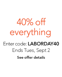 Save 40% on everything
