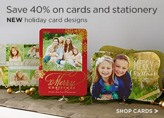Save 40% on cards and stationery