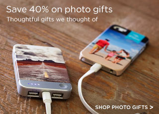 Save 40% on photo gifts