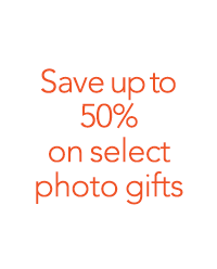 Save up to 50% on select photo gifts