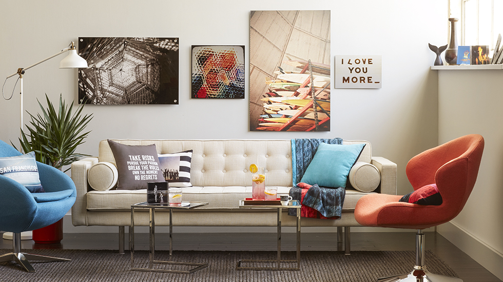 Urban loft living room decor home decor shutterfly for Urban home decor