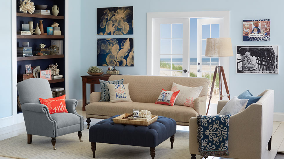 Traditional Coastal Living Room