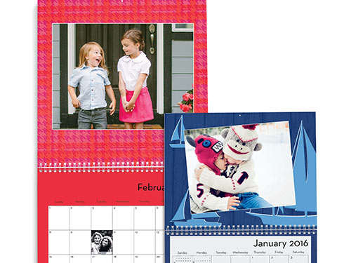 "Custom 8"" x 11"" 12-Month Wall Calendar"