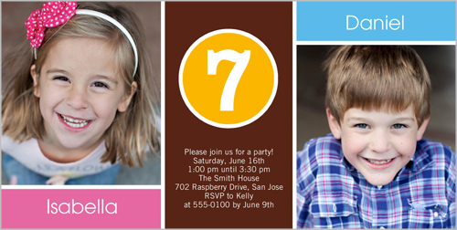 with this twin birthday invitation. Add favorite photos of your twins ...