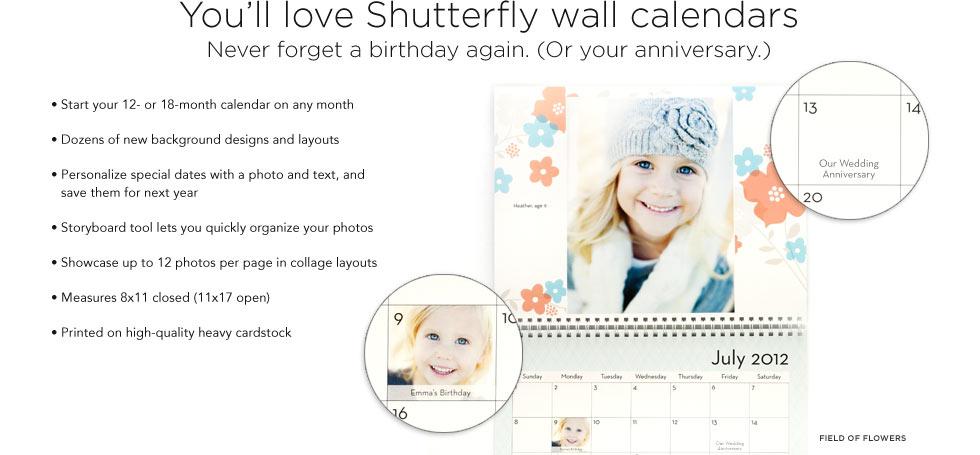 free calendar from Shutterfly