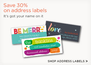 Save 30% on address labels