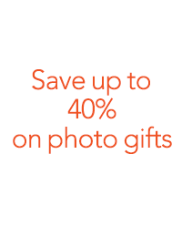 Save up to 40% on select photo gifts