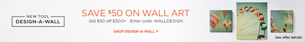 Save $50 on design a wall
