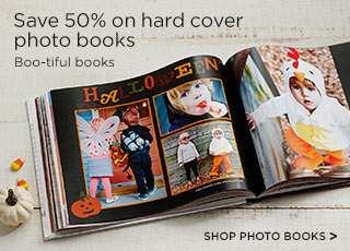 Save 50% on hard cover photo books