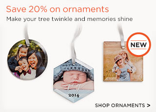 Save 20% on all ornaments