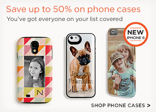 Save up to 50% on phone cases