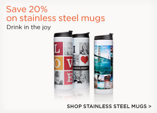 Save 20% on stainless steel mugs