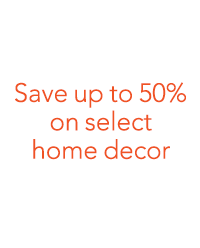 Save up to 50% on select home decor