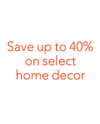 Save up to 40% on home decor