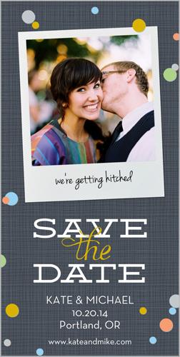 Polaroid Polka Dots Save the Date