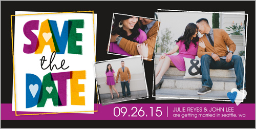 Layered Love Save the Date