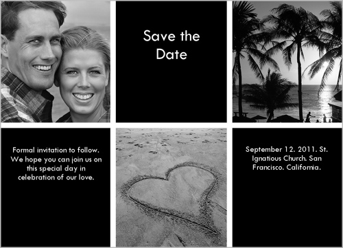 Checkers Black Save the Date