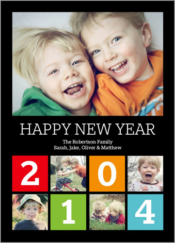 Color Block Year New Year's Card