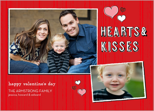 Hearts And Kisses Valentine's Card