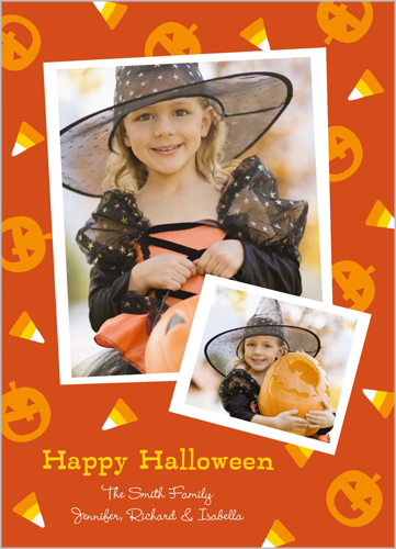 Candy Corn Frames Halloween Card