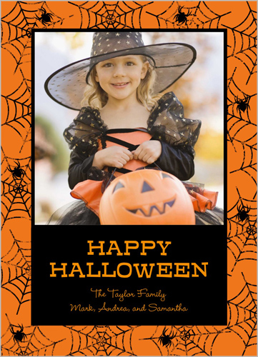 Spider Web Frame Halloween Card