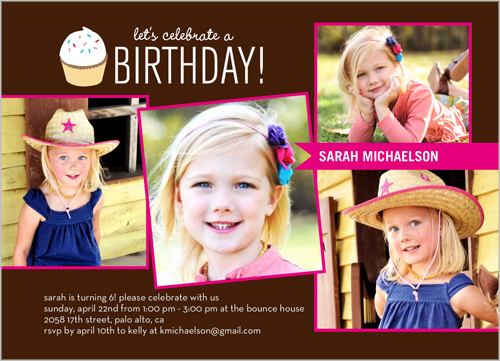 Party Girl Birthday Invitation