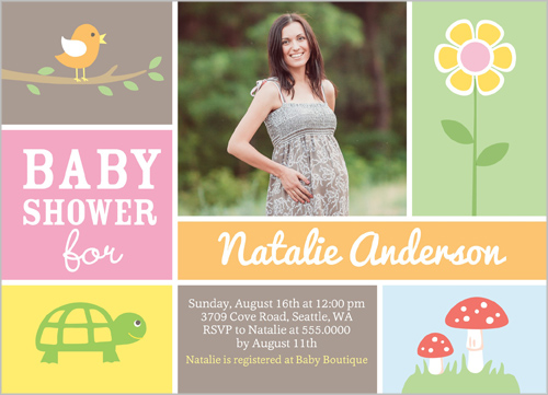 Woodland Friends Girl Baby Shower Invitation