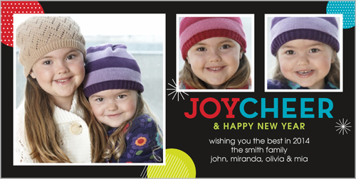 Joy Cheer Colors New Year's Card