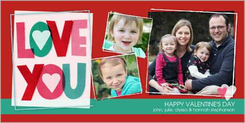 Love You Collage Valentine's Card