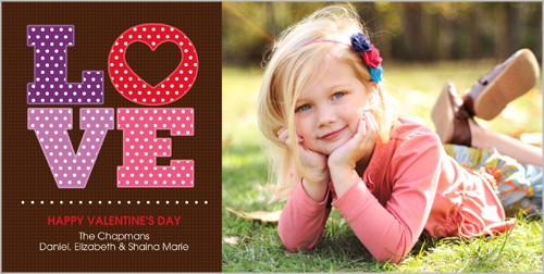 Polka Dot Love Valentine's Card