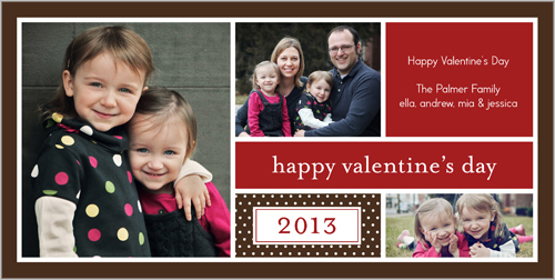 Valentine's Collage Red Valentine's Card