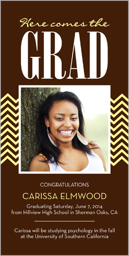 Here Comes Grad Graduation Card