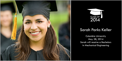 Hip Hat Graduation Card