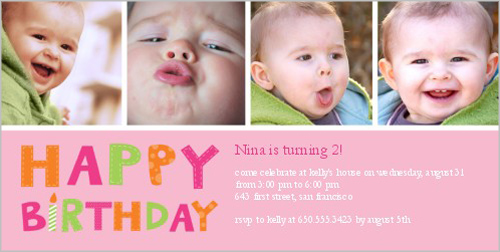Having Fun Girl Birthday Invitation