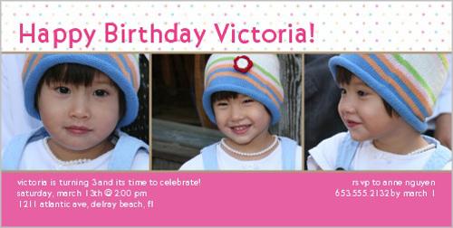 Polka Fun Birthday Invitation
