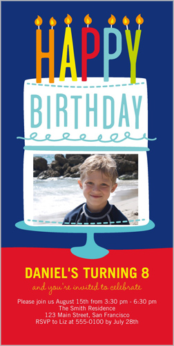 Happy Wishes Boy Birthday Invitation