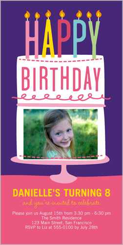 Happy Wishes Girl Birthday Invitation