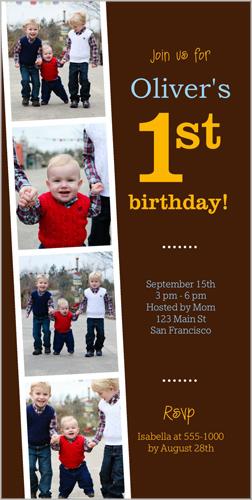 Year Of Memories Boy Birthday Invitation