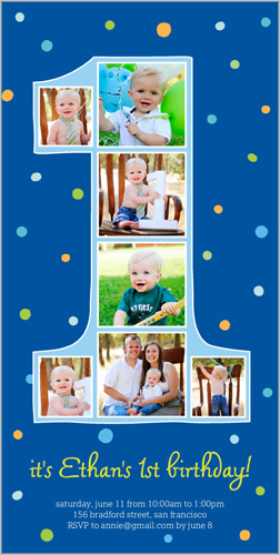 Number One Filmstrip Boy Birthday Invitation