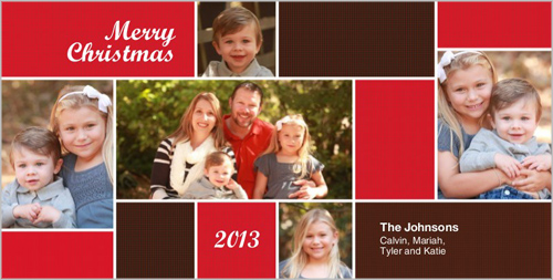 Blocks Of Love Christmas Card