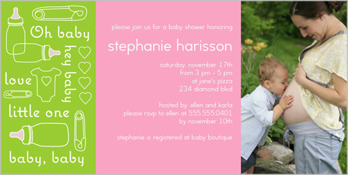 Little One Love Baby Shower Invitation