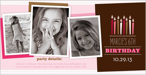 Wishing Candles Girl Birthday Invitation by pottsdesign