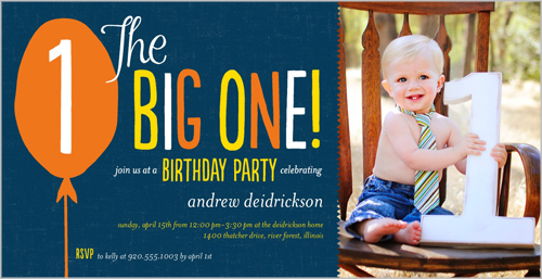 Big Balloon Wishes Boy Birthday Invitation by Float Paperie