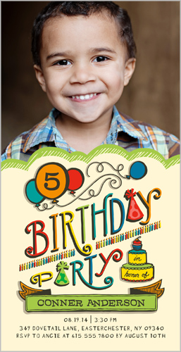Birthday Balloons Boy Birthday Invitation by pottsdesign