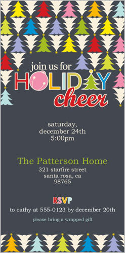Trees And Cheer Holiday Invitation by Erin Condren