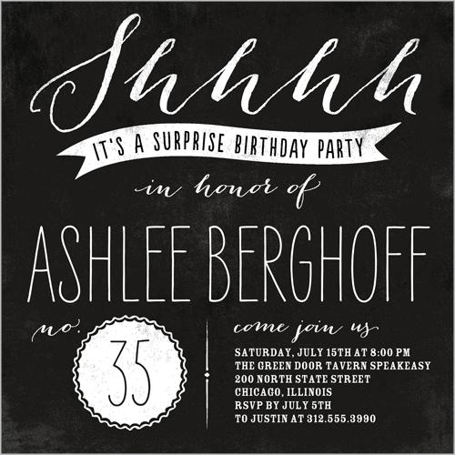 Big Surprise 5x5 Flat Party Invitation