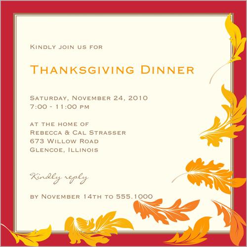 Thanksgiving Invitations Thanksgiving dinner fall
