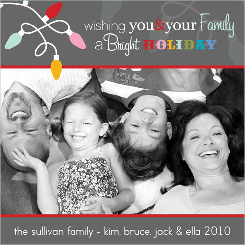 Bright Colored Lights Christmas Card on Shutterfly