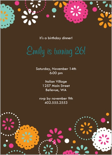 Cocoa Fiesta Party Invitation by Petite Lemon