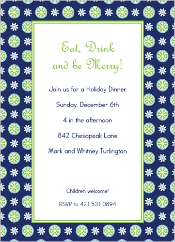 Merry Lime Citrus Party Invitation